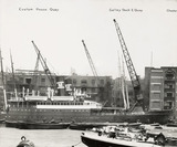 Thames Riverscape showing Custom House Quay and Galley Dock and Quay: 1937