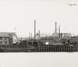 Thames Riverscape showing Ferguson's Wharf; 1937
