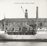 Thames Riverscape showing Deptford Supply Reserve Depot: 1937