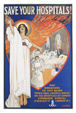 Save Your Hospitals! Poster: 1920's