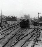 Train at Royal Victoria Dock: 1949