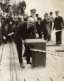 Ramsay MacDonald at Tilbury: 1930
