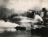 St Katharine's Dock ablaze: 1940