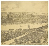 Panorama of London, Westminster and Southwark; 1543