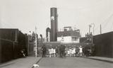 Swedish timber vessel enters Surrey Docks: 1928