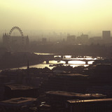 Aerial view of the River Thames; 2000