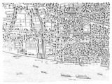 St Paul's map image made from the Copperplate Map: 1559