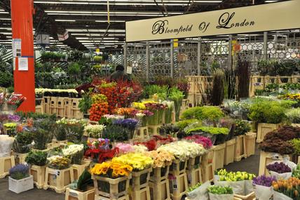 New Covent Garden flower market; 2009
