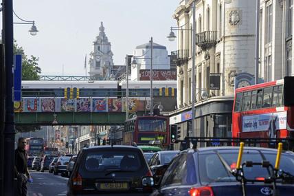 Traffic in Brixton; 2009