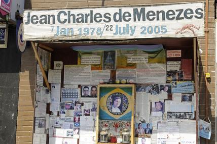 Jean Charles de Menezes memorial; 2009
