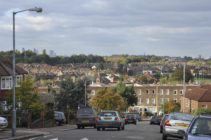 View from Blythe Hill across south London; 2009