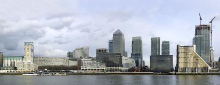 Panorama of Canary Wharf; 2009