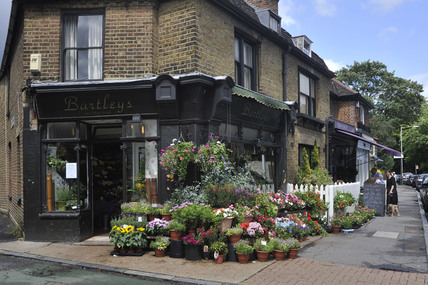 Bartley's florists in Dulwich Village; 2009