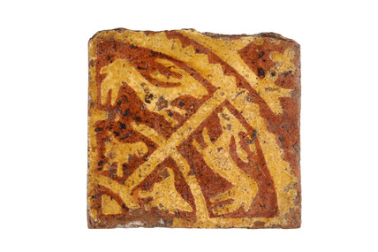 Late Medieval ceramic floor tile: 14th century