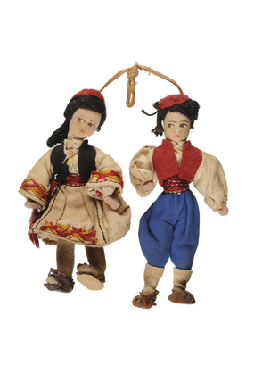 Pair of Greek Dolls; 1940s-70