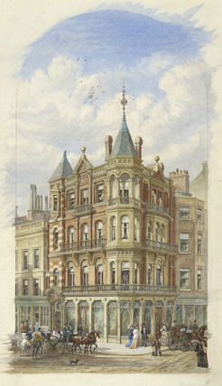 Exterior of view of 24 New Bond Street; 1870-1875