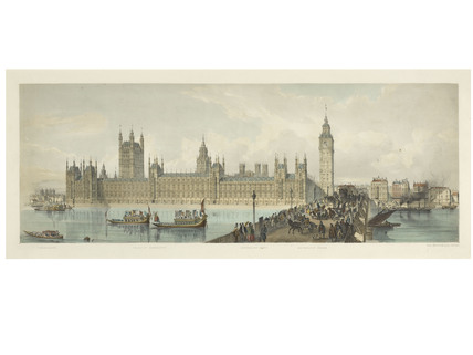 Panorama from Westminster Bridge; 1850-1859