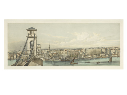 View from Brunel's Hungerford Bridge; 1850-1855
