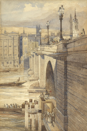 View of the west side of London Bridge; 1878