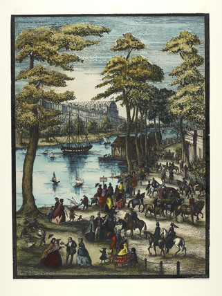 The Serpentine and the Great Exhibition;1851