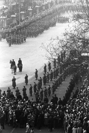 Funeral procession of King George VI: 1952