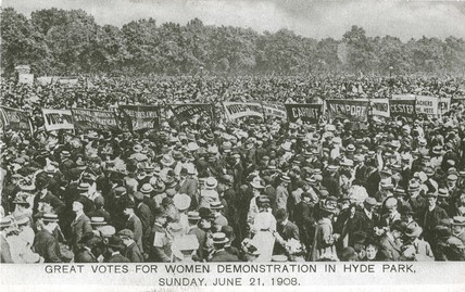 Women's Sunday, Hyde Park, 21 June 1908.