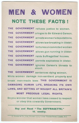 Men and Women. Note these Facts: 1912-1915