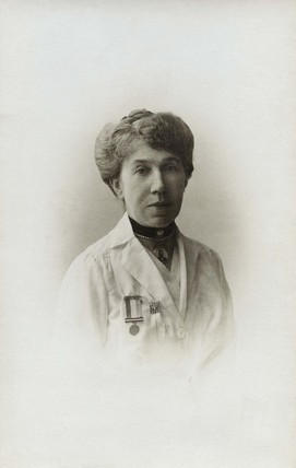 Portrait photograph of the suffragette Janie Terrero: c.1912