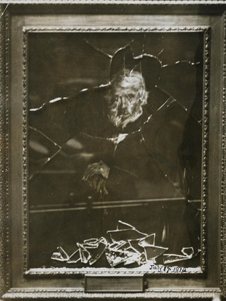 Damaged portrait of Thomas Carlyle: 1914