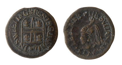 Post medieval trade token; 1601-1700