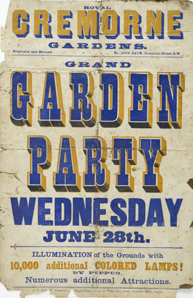 A poster for the Cremorne Garden party; 1874