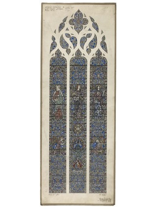 A design for a stained glass window for the Lady Chapel, Liverpool Cathedral:  1951