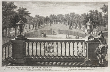 A view of the Garden of the Earl of Burlington; 1751-1800