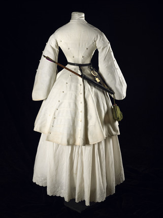 A three quarter length Marcella archery jacket; 1855