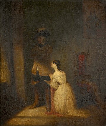 Cromwell's daughter imploring him to clemency for the life of Charles I: c. 1801-1900