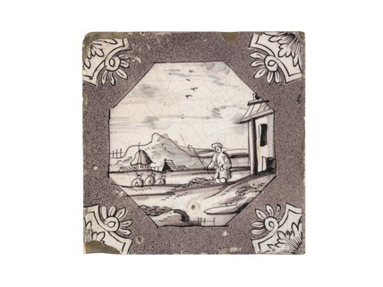Tin-glazed earthenware wall tile: c. 1276-1766