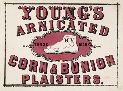 Advertisement for Young's Arnicated Corn & Bunion Plaisters; 1860-1880
