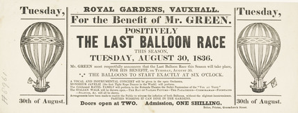 The Last Balloon Race; 1836