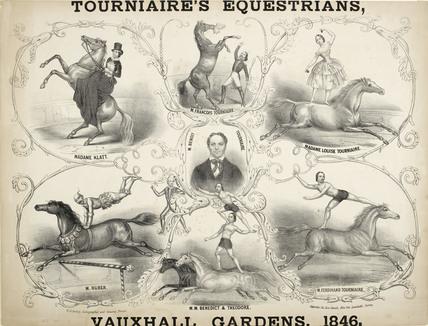 Tournaire's Equestrians, Vauxhall Gardens; 1846