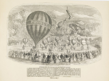 'Juvenile Fete and Balloon Race at Cremorne Gardens;