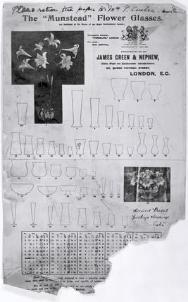 Munstead Flower Vases; 1884