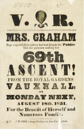 Mrs Graham's 69th balloon ascent; 1851