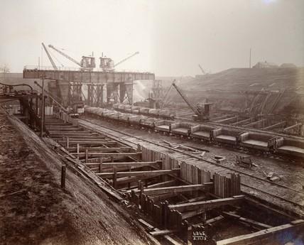 Construction work at King George V Dock
