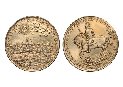 Silver gilt Royalist medal: 1633