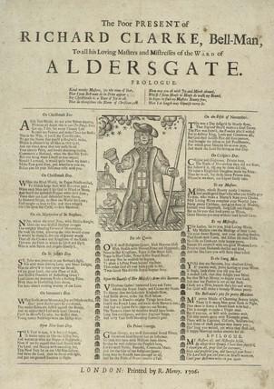 The Poor Present of Richard Clarke, Bell-Man; 1706