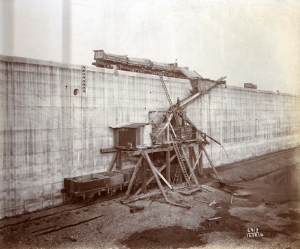 This image shows construction of the King George V Dock