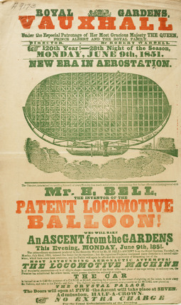 Mr H.Bell's patent locomotive balloon; 1851