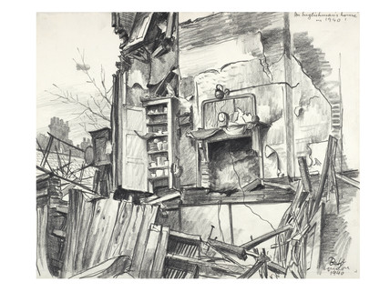 War Damage: Connaught Mews ; 1940