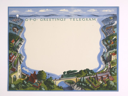 Greetings telegram issued by the General Post Office; 1939