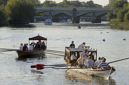 Boats on the Thames at Richmond: 2009